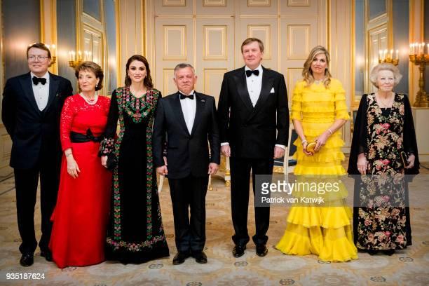 Prince Constantijn of The Netherlands, Princess Margriet of the Netherlands, Queen Rania of Jordan, King Abdullah of Jordan, King Willem-Alexander of...