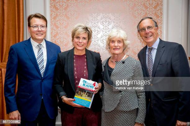 Prince Constantijn of The Netherlands, Prinsess Laurentien of The Netherlands, Jantien Brinkhorst and Laurens Jan Brinkhorst during the award...