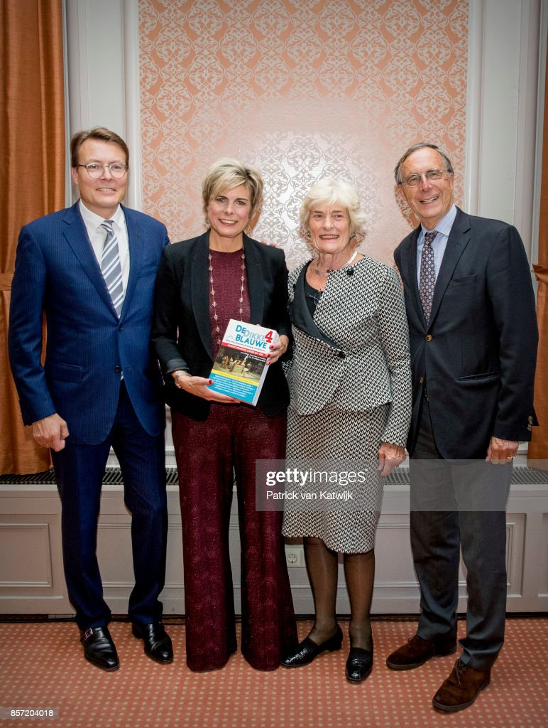 Prince Constantijn of The Netherlands, Prinsess Laurentien of The Netherlands, Jantien Brinkhorst and Laurens Jan Brinkhorst (parents of princess Laurentien )during the award ceremony of the most influential player in the Dutch philanthropy 2017-2018 organized by De Dikke Blauwe in Societeit de Witte on October 3, 2017 in The Hague, Netherlands. Princess Laurentien is founder of the Missing Chapter foundation that gives children a voice in social issues.