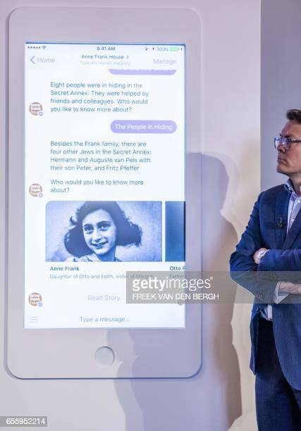 Prince Constantijn of the Netherlands talks during the presentation of a initiative between the Anne Frank Foundation and Facebook Netherlands on the...