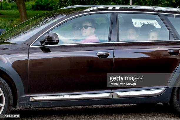 Prince Constantijn Princess Laurentien Countess Eloise Count ClausCasimir and Countess Eleonore arrive at Palace Noordeinde for an private birthday...