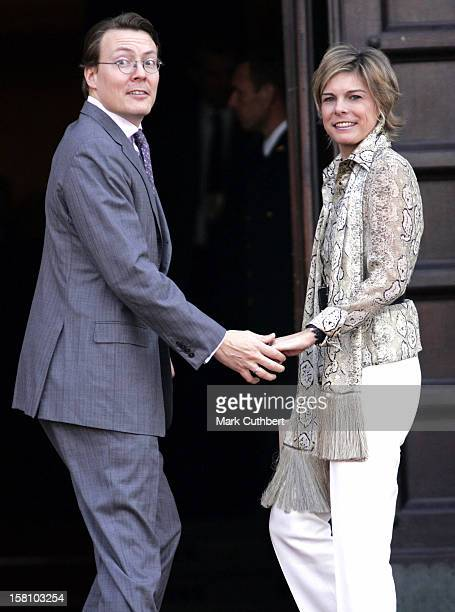 Prince Constantijn Princess Laurentien Of Holland Attend A Reception At Copenhagen Town Hall During The Hans Christian Andersen 200Th Anniversary...
