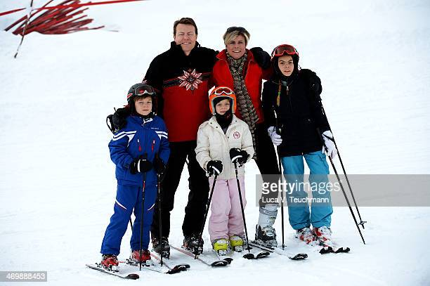 Prince Constantijn Princess Laurentien of The Netherlands Countess Eloise Count ClausCasimir Countess Leonore attends the annual winter photocall on...
