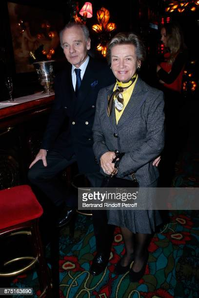 Prince Constantin Mourousy and Princess Suzanne Mourousy attend Eve Ruggieri signs her Book 'Dictionnaire amoureux de Mozart' at Maxim's on November...