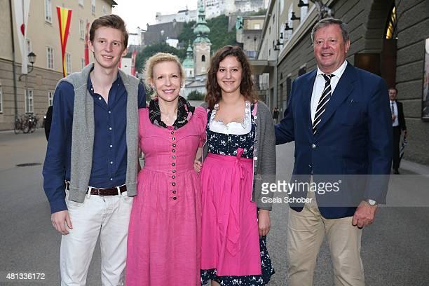Prince Constantin zu SaynWittgenstein and his mother Sunnyi Melles her daughter Leonille zu SaynWittgenstein and father Prince Peter zu...