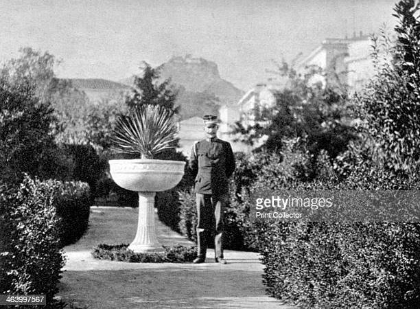 Prince Constantine , the Duke of Sparta, in his garden at Athens, 1908. From Queen Alexandra's Christmas Gift Book, Photographs from My Camera, by...