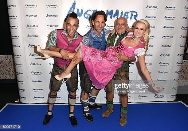 Prince Damien FalkWilli Wild Axel Munz and Doreen Steinert during the Angermaier Kicks Off Oktoberfest Season With 'TrachtenNacht' on September 8...