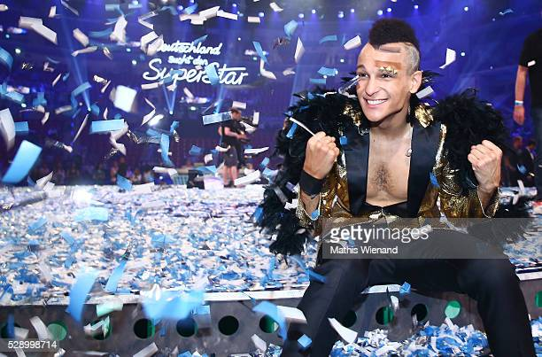 Prince Damien wins the finals of the television show 'Deutschland sucht den Superstar' on May 7 2016 in Duesseldorf Germany