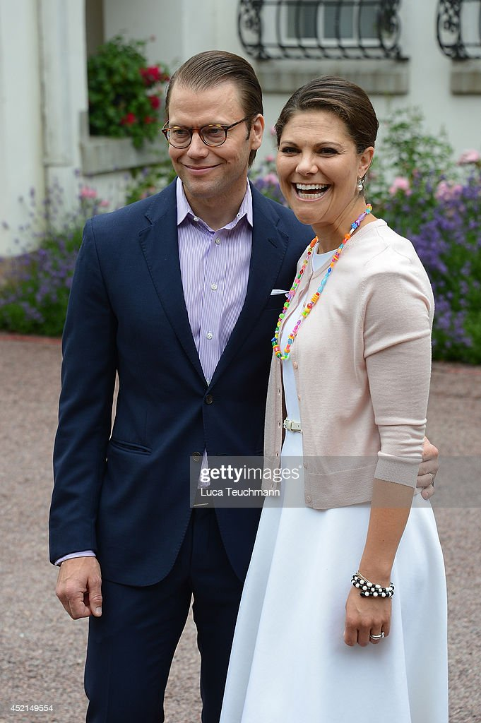 Prince Daniel, Duke of Vastergotland and Crown Princess Victoria of Sweden attend the Victoria Day celebrations, on the Crown Princess's 37th Birthday, at Solliden on July 14, 2014 in Oland, Sweden.