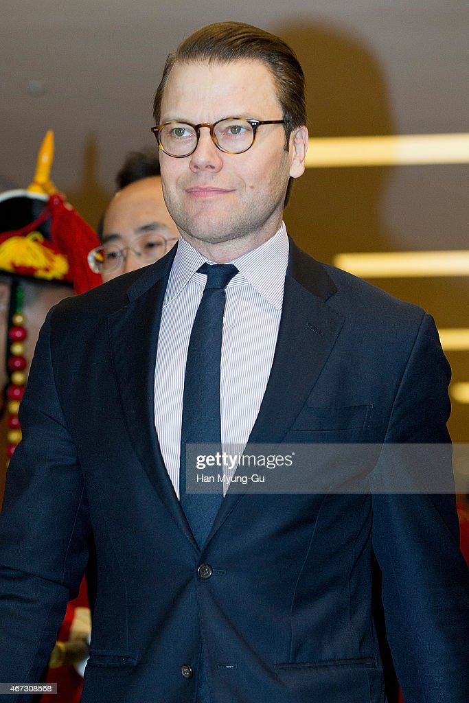 Prince Daniel, Duke of Vastergotland is seen upon arrival at Incheon International Airport on March 23, 2015 in Incheon, South Korea. H.R.H the Crown Princess of Sweden Victoria is visiting South Korea from March 23 to 24.