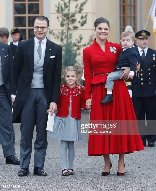 Prince Daniel, Duke of Vastergotland, Princess Estelle, Duchess of Ostergotland, Victoria, Crown Princess of Sweden and Prince Oscar, Duke of Skane...