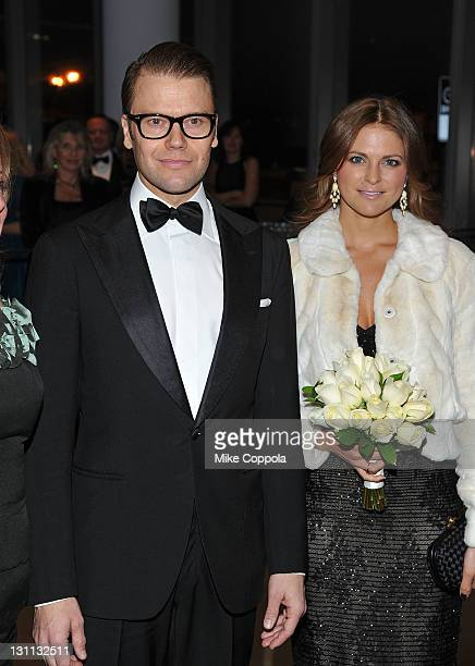 Prince Daniel Duke of Västergötland and HRH Princess Madeleine of Sweden Duchess of Hälsingland and Gästrikland attends the Swedish American Chamber...