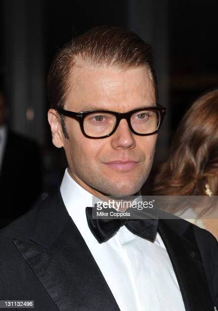 Prince Daniel Duke of Västergötland attends the Swedish American Chamber of Commerce PreConference gala dinner at the IAC Headquarters on November 1...