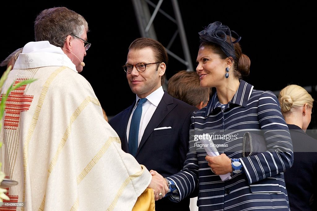 Swedish Royals Attend Celebrations To Mark the 1,000th Anniversary of Skara Diocese : News Photo