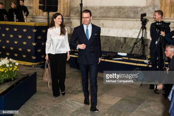 Prince Daniel of Sweden and Princess Sofia of Sweden attend the Global Child Forum 2018 at the Stockholm Palace on April 11 2018 in Stockholm Sweden