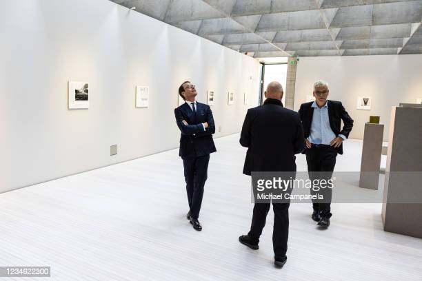 Prince Daniel of Sweden attends an inauguration ceremony for the new extension of the Liljevalchs art gallery on August 11, 2021 in Stockholm, Sweden.