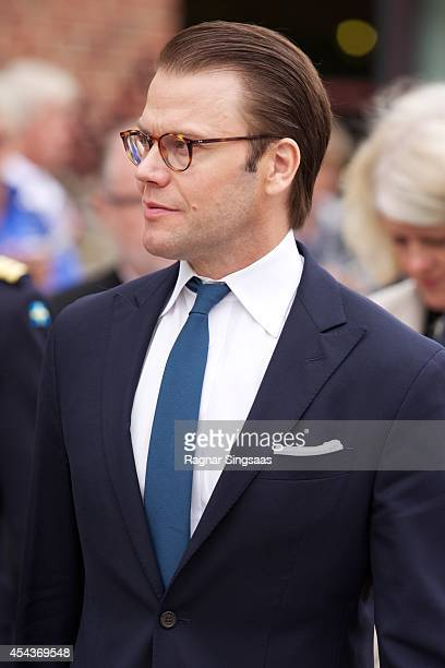 Prince Daniel of Sweden attends Celebrations To Mark the 1000th Anniversary of Skara Diocese on August 30 2014 in Skara Sweden