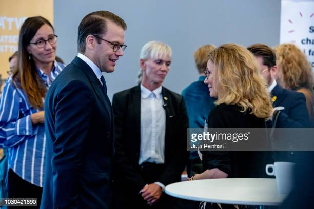 Prince Daniel of Sweden attends Eventhalsan's Launch Day at Svenska Massan on September 10 2018 in Gothenburg Sweden