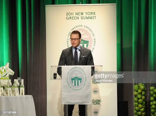 Prince Daniel Of Sweden attends the 2011 New York Green summit From Farm to Fork at Citibank Auditorium on November 2 2011 in New York City
