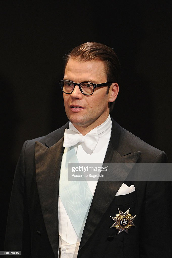 Prince Daniel of Sweden attends the 2012 Nobel Prize Award Ceremony at the Nobel Prize Ceremony>> at Concert Hall on December 10, 2012 in Stockholm, Sweden.