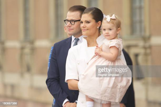 Prince Daniel of Sweden, Crown Princess Victoria of Sweden and Princess Estelle of Sweden attend the City Of Stockholm Celebrations during King Carl...