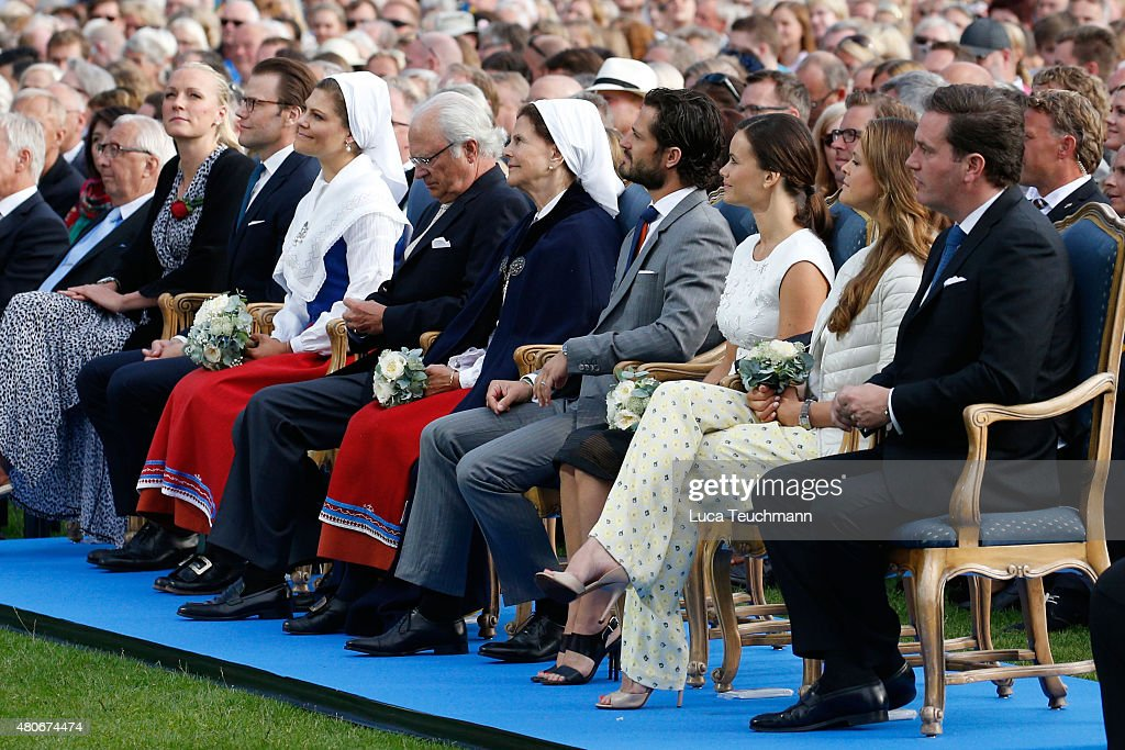 Swedish Royals Attend Victoria's Day : News Photo