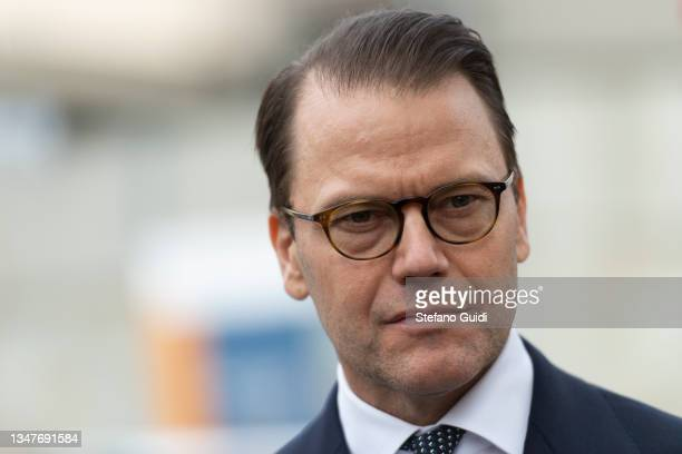 Prince Daniel of Sweden during a visit at Unione Industriale in Turin to promote bilateral relations in the fields of trade and investment on October...