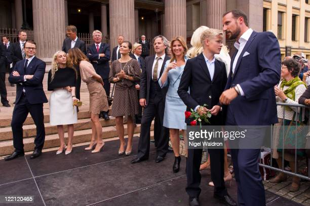 Prince Daniel of Sweden Franca Szzani of Italy Princess Rosaio Nadal of Bulgaria Princess Victoria of Sweden Mr Ari Behn of Norway Princess Martha...