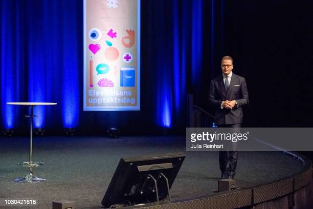 Prince Daniel of Sweden holds the opening speech at Eventhalsan's Launch Day at Svenska Massan on September 10 2018 in Gothenburg Sweden