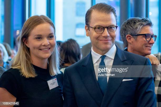 Prince Daniel of Sweden mingles with attendees of Eventhalsan's Launch Day at Svenska Massan on September 10 2018 in Gothenburg Sweden
