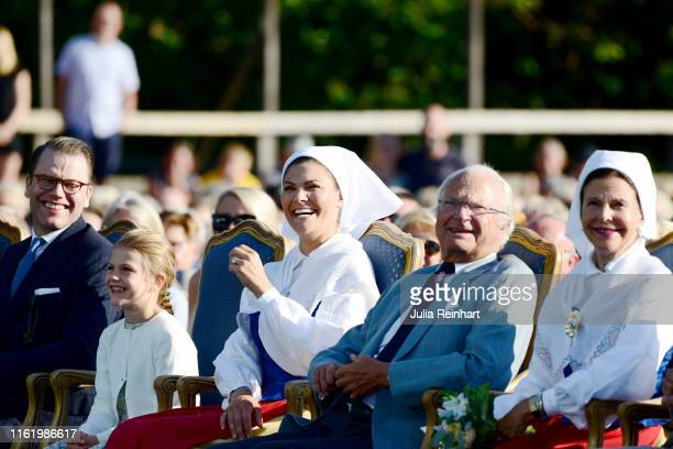 Prince Daniel of Sweden Princess Estelle of Sweden Crown Princess Victoria of Sweden King Carl Gustaf of Sweden and Queen Silvia of Sweden are seen...