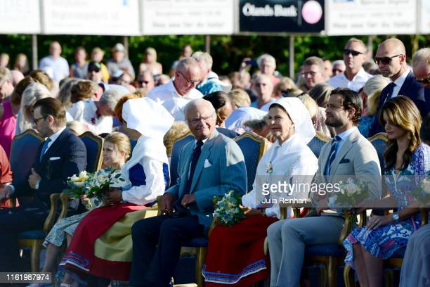 Prince Daniel of Sweden Princess Estelle of Sweden Crown Princess Victoria of Sweden King Carl Gustaf of Sweden Queen Silvia of Sweden Prince Carl...