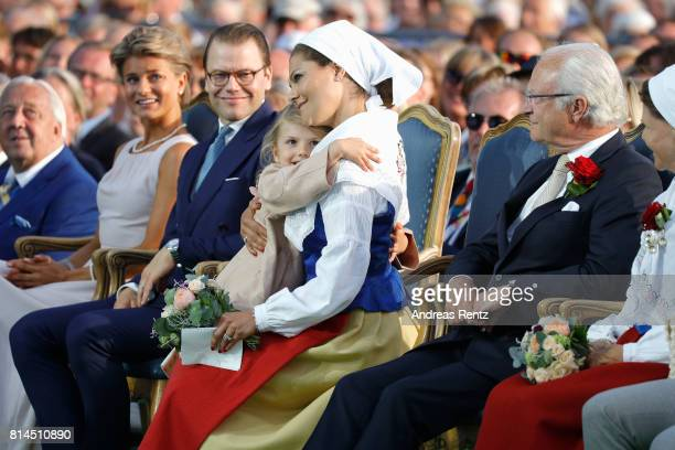 Prince Daniel of Sweden Princess Estelle of Sweden Crown Princess Victoria of Sweden King Carl Gustaf of Sweden and Queen Silvia of Sweden attend the...