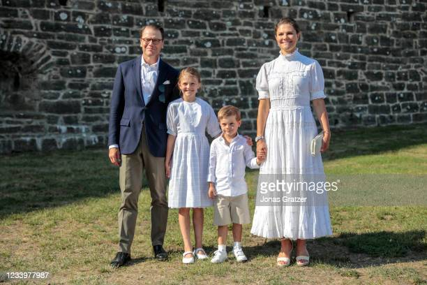 Prince Daniel of Sweden, Princess Estelle of Sweden, Prince Oscar of Sweden and Crown Princess Victoria of Sweden are seen on the occasion of The...