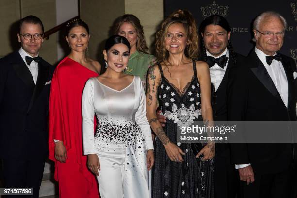 Prince Daniel of Sweden Princess Victoria of Sweden Aryana Sayeed Princess Madeleine of Sweden Chloe Trujillo Robert Trujillo and King Carl XVI...
