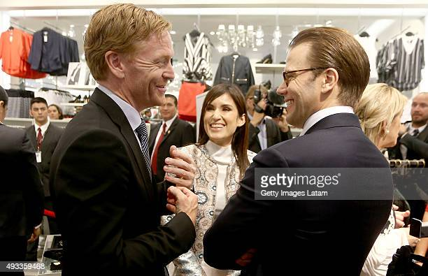 Prince Daniel of Sweden smiles during a visit to H&M store at Jockey Plaza on October 19, 2015 in Lima, Peru.