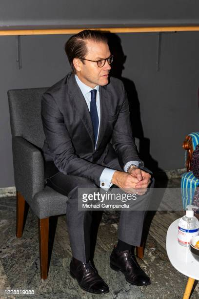 Prince Daniel of Sweden visits the Maxim Theater on October 1 2020 in Stockholm Sweden The Maxim Theater is one of the many local businesses...