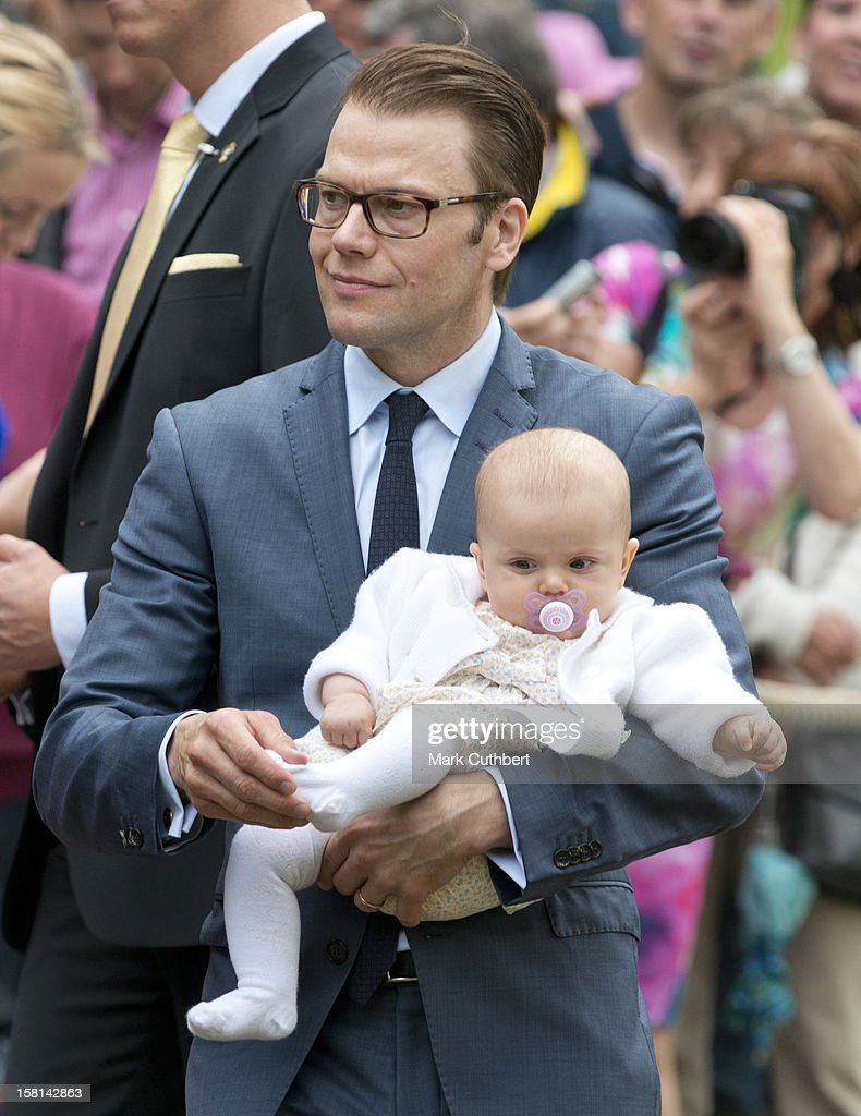 Prince Daniel Of Sweden With His Daughter Princess Estelle Of Sweden At Birthday Celebrations For Victorias 35Th Birthday At Solliden In Borgholm, Sweden.