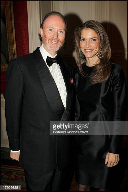 Prince D'Arenberg and Felicite Herzog at The Traditional Christmas Dinner Held At The British Embassy In Paris.