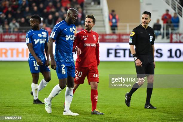 Prince Desir Gouano of Amiens denounced racist songs in the ranks of supporters of Dijon during the Ligue 1 match between Dijon and Amiens at Stade...