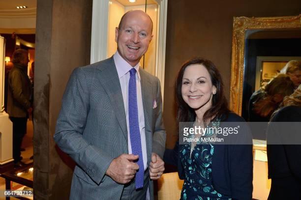 Prince Dimitri of Yugoslavia and Bettina Zilkha attend Verdura Celebrates the Hearst Castle Preservation Foundation at Verdura Showroom on April 4,...