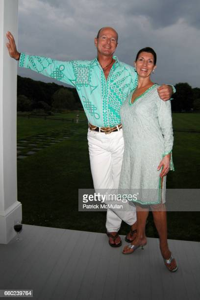 Prince Dimitri of Yugoslavia and Pamela Fiori attend the Kickoff Party for the 2009 Alzheimer's Association Rita Hayworth Gala at a Private Residence...