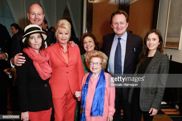 Prince Dimitri of Yugoslavia Christina Oxenberg Ivana Trump Princess Katherine of Serbia Dr Ruth Westheimer DrDouglas Jackson and Kick Kennedy during...