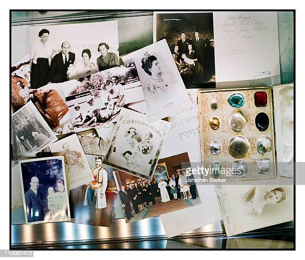 Prince Dimitri of Yugoslavia's personal photos are photographed for Vanity Fair Magazine in his jewelry salon on October 10, 2008 in New York City....