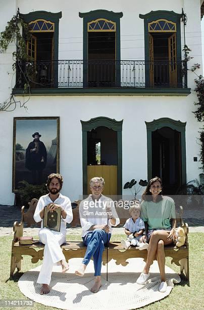 Prince Dom Joao Marie de Orleans e Braganza with his son Prince Dom Joao Henrique de Orleans e Braganca and grandson Prince Philippe de Orleans e...