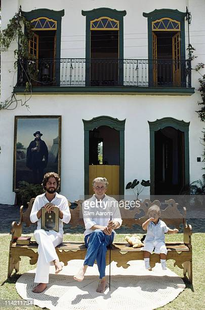 Prince Dom Joao Marie de Orleans e Braganza with his son Prince Dom Joao Henrique de Orleans e Braganca and grandson Prince Philippe of...