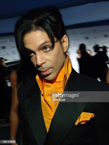 Prince during Audi of America Red Carpet Coverage at 14th Annual Elton John AIDS Foundation Oscar Viewing Party at Pacific Design Center in West...