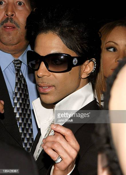 Prince during Gianni and Donatella Versace Receive Rodeo Drive Walk Of Style Award Inside at Beverly Hills City Hall in Beverly Hills California...