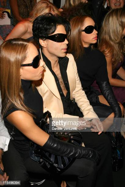 Prince during Milan Fashion Week Spring/Summer 2007 Versace Front Row at Piazza Vetra 1 in Milan Italy