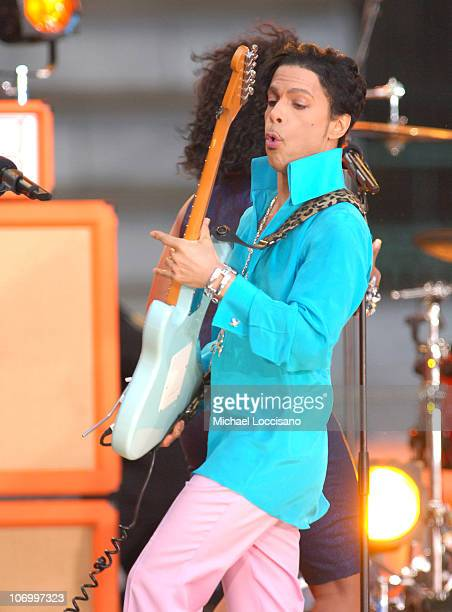 Prince during Prince Featuring Tamar Performs at the Good Morning America Summer Concert Series June 16 2006 at Bryant Park in New York City New York...